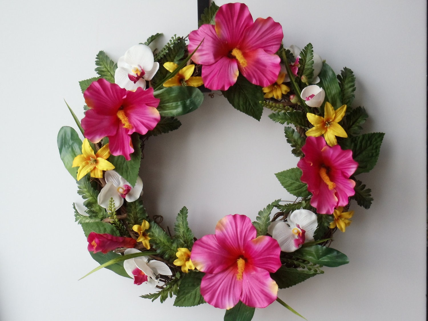 Hibiscus Wreath Exotic Wreath Tropical Wreath Hibiscus Lily