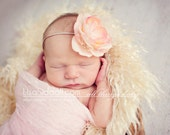 Petal - Blush  Pink cheesecloth wrap - Newborn Photography prop- Baby wrap - photography