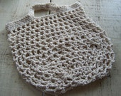 Reuseable Grocery Shopping Bag, hand crocheted, 100% cotton