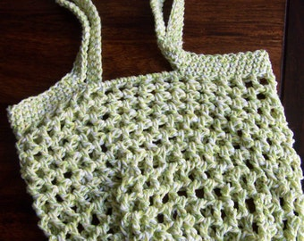 Crochet Net Bag : CROCHETED SHOPPING NET BAG - CROCHET PATTERNS