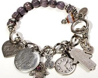 Boho chic dangle bracelet