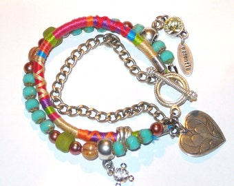 Multi Strand Boho Chic Friendship Bracelet -