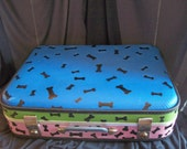 """Pet Bed  from Old Suitcase  """"Doggie Dreams"""""""