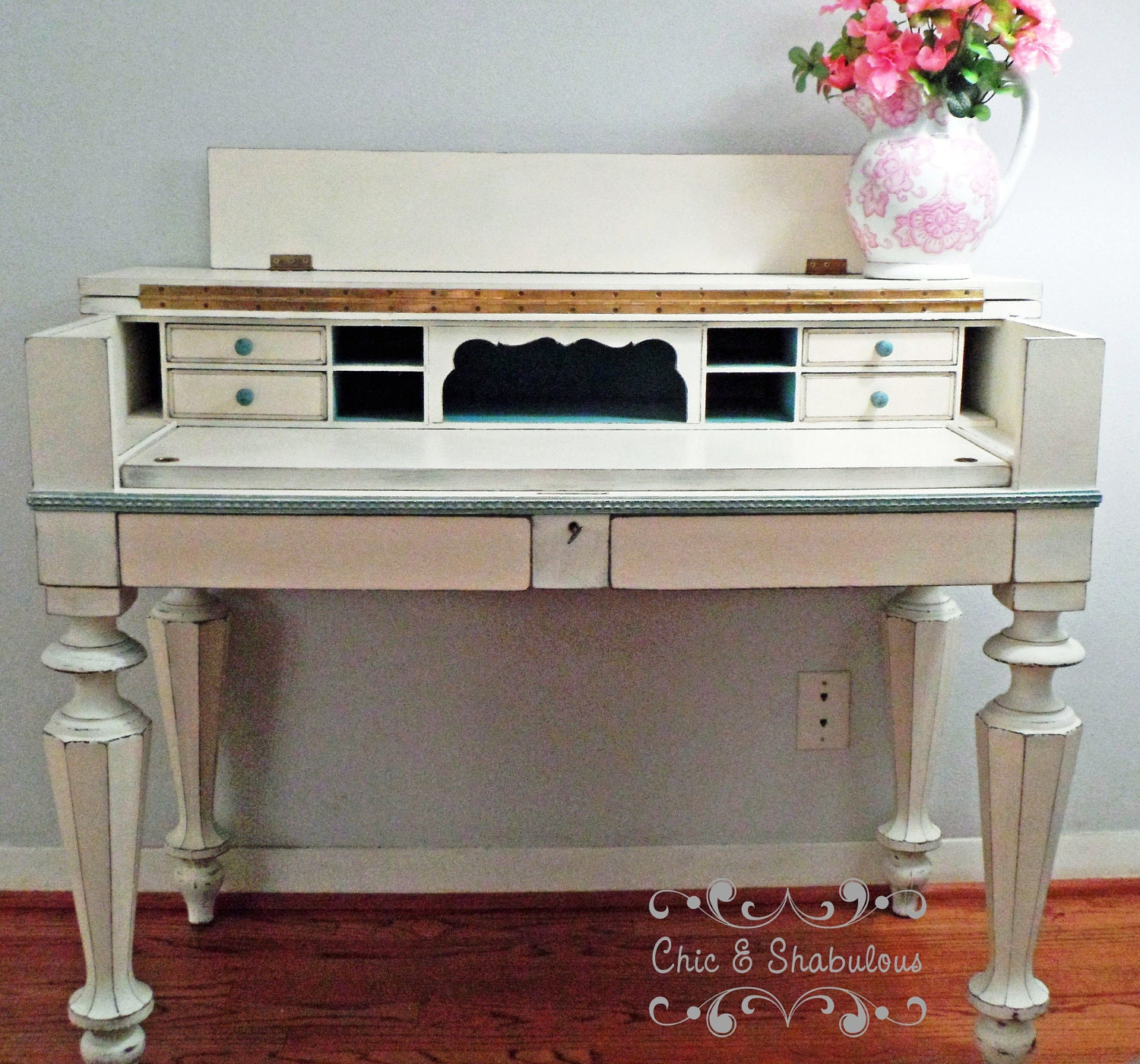 Greyhound Shipping Quote >> Spinet / Secretary Desk Shabby Chic