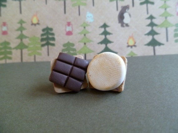 Mix and Match S'mores Post Earrings