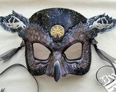 Greek Hades Owl Leather Mask