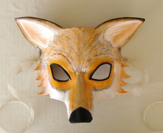 Red Fox Leather Mask