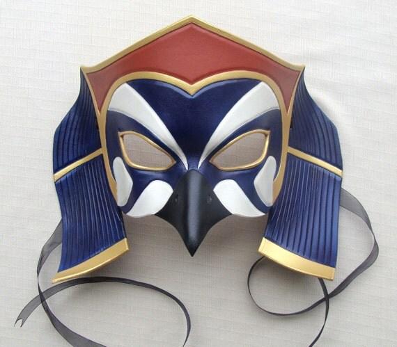 """Egyptian God of Pharaohs, Horus Leather """"Standard"""" Mask"""