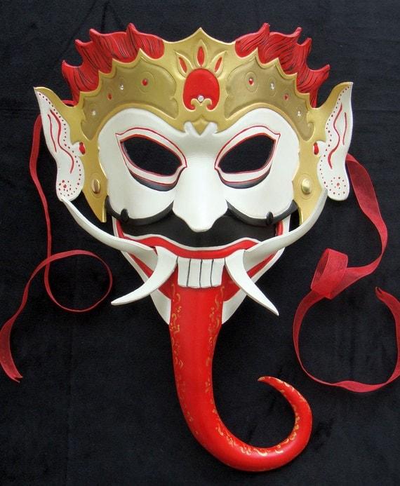 Bali Demon Goddess, Rangda - Leather Mask