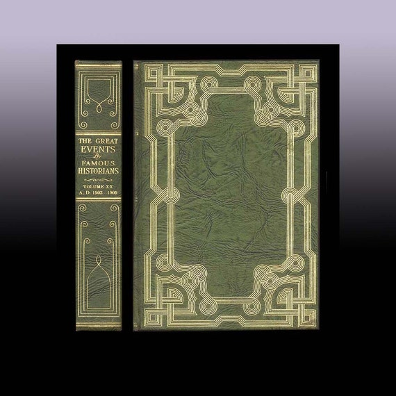Antique Celtic Knot Binding, Beautiful Book with  Facsimile Binding of Imitation Leather, Great Events by Famous Historians Limited Edition