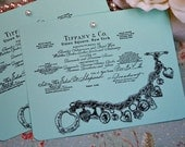 Tiffany And Co. Wedding Shower Cards- Wish Cards- Tiffany and Co. Charm Bracelet Card- Set of 10