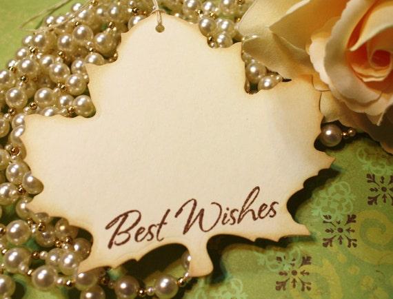 Wish Tree Wedding Tags - Wishes - Leaf Shape - Set of 6
