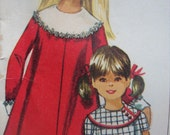simplicity vintage 1967 DESIGNER fashion sewing pattern CHILDS dress detachable collar cuffs SIZE 2 tent dress sleeve options