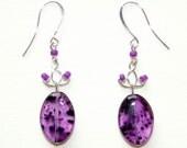 Lilac Leopard Earrings