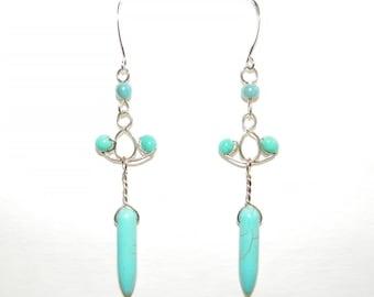 Blue Daggers Earrings