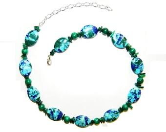 Azurite and Malachite Necklace