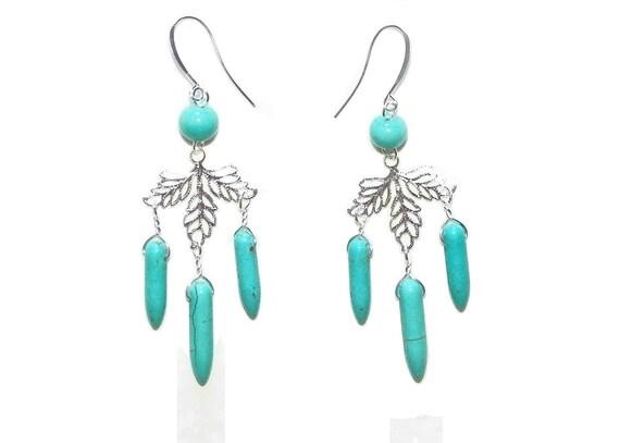 Turquoise Autumn Earrings