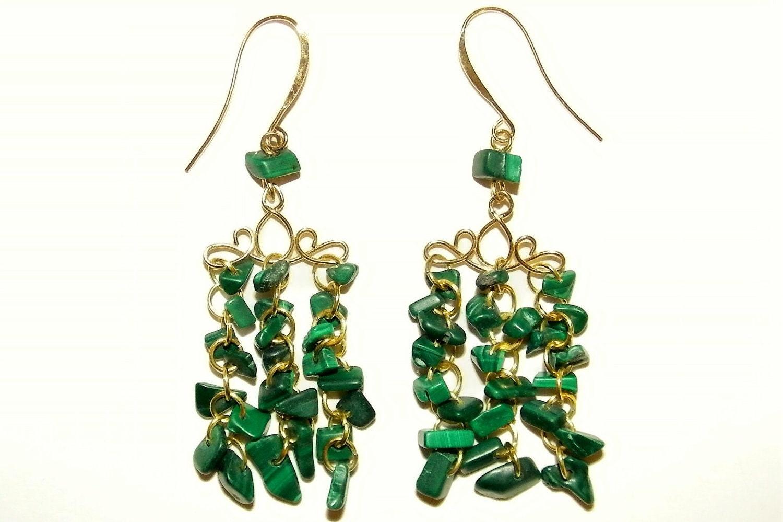 Elven waterfall earrings for Waterfall design etsy