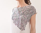 PARTICLE. Hand painted Silk Blouse