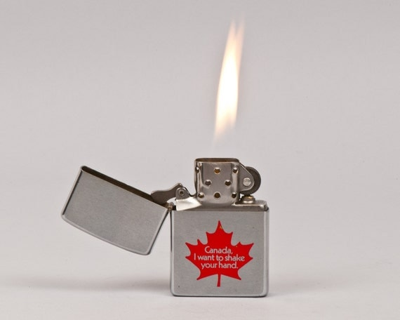 Zippo Lighter Made in Niagara Falls With Canadian Maple Leaf