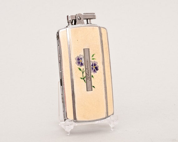 Working 1930s Ronson Sportcase Lighter with creme enamel