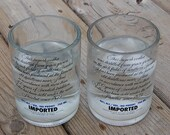 Absolut  Vodka  Set of 4 Glasses-Recycled Bottle-Wedding-ManCave-Bar Lounge-Beach