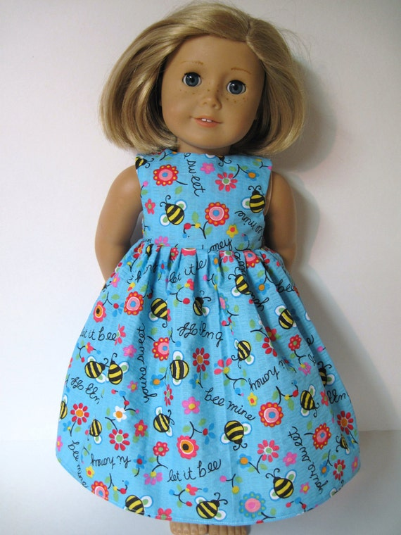 Happy and Upbeat Sleeveless Dress for Your American Girl Doll