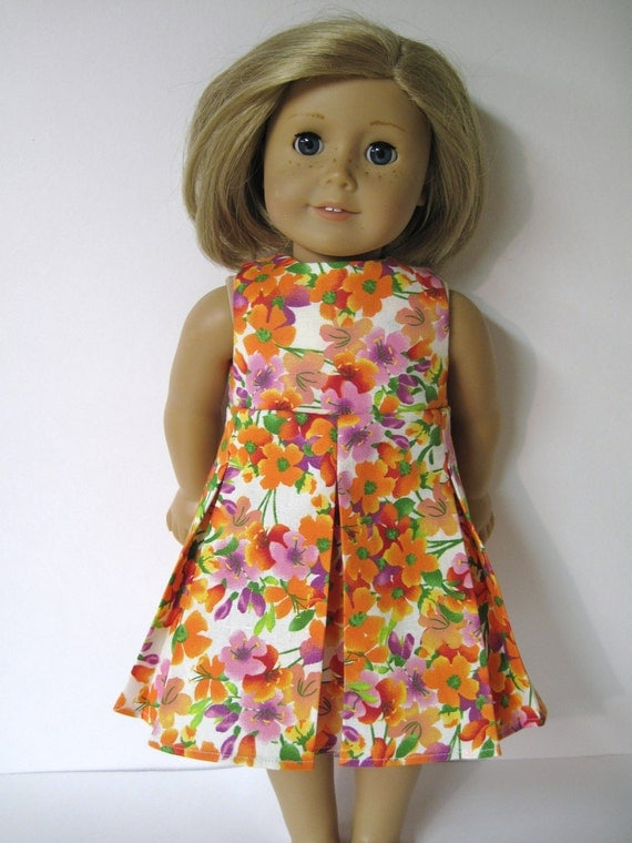 Sleeveless Pleated Skirt Dress for American Girl Doll