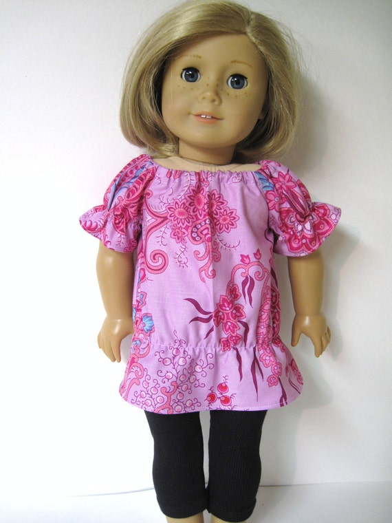 Crazy Love Top with Leggings Outfit for Your American Girl Doll