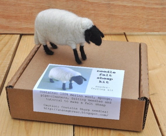 Needle Felt Sheep Kit - DIY Craft Kit