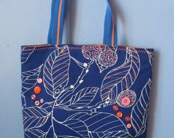 Blue Leaves Market Bag