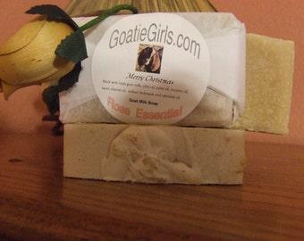 Rose Essential Goat Milk Soap Olive Oil, Attar of Rose