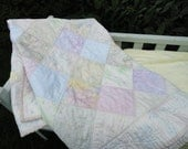 Sweet Dreams - Shabby Chic Baby Batik Quilt