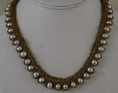 White Pearl Necklace  10908