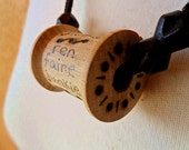 Vintage Wooden Spool Necklace - Ren Faire Junkie