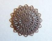 Antique Copper Filigree Components 10pk