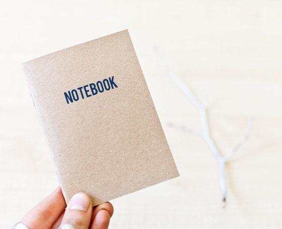 Passport size kraft handmade journal