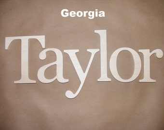 6 letters name set - 6 inch  Wooden Unpainted Letters-Wood Letters-Wall Letters-Unfinished-Custom size available