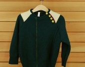 Wool/Angora Children's Sweater Peacock Green Size 4 (Tanager Series A)