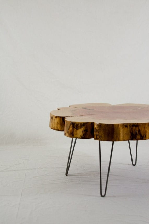 Reclaimed Coffee Table Sequoia Round Seattle Reclaimed
