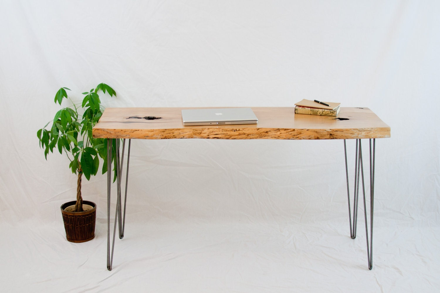 Alder desk reclaimed rustic minimal for Minimalist desk