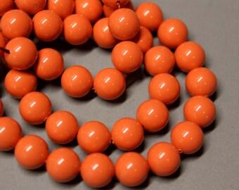 Pearls - Swarovski Crystal - Qty 3 - 12mm - Round - Coral - Ref 218