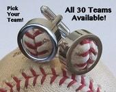 Game Used Baseball Cufflinks PICK YOUR TEAM