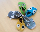 Airmons - PDF Pattern Baby Shoes, Baby Slippers, Cloth Shoes 0-24 mon, Size 5-8. Size 9-12
