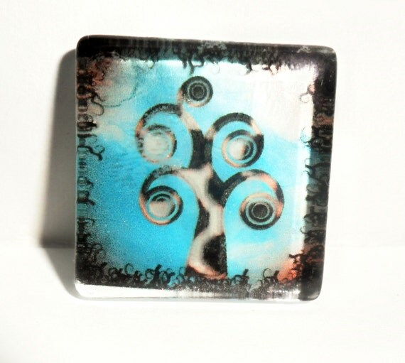 Whimsical Tree Magnet or Pendant...Your Choice