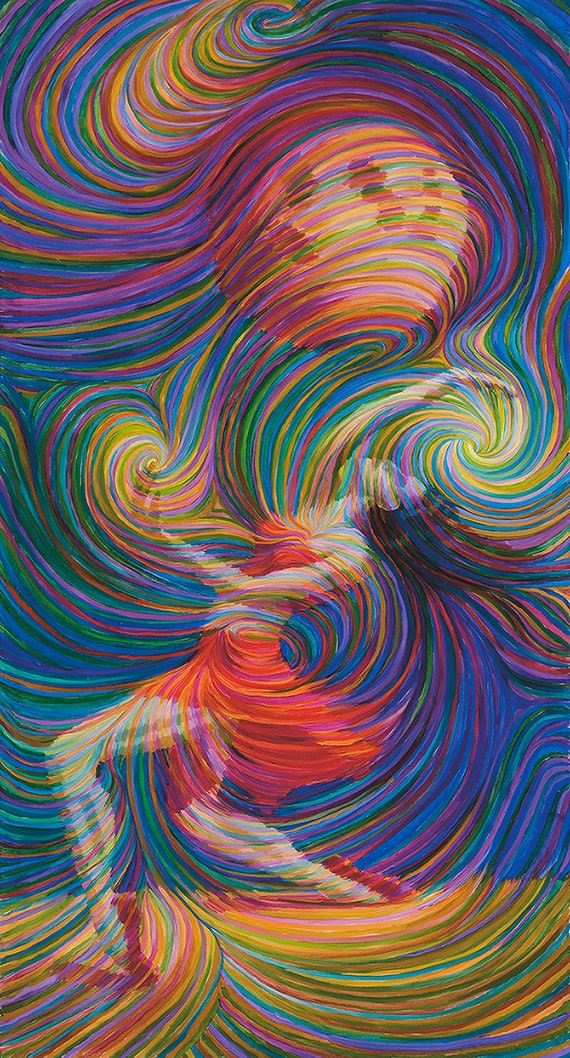 Moon Dancer Energy Painting - Giclee Print Signed By Julia Watkins