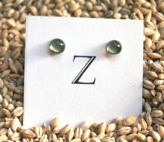 Dot Post Earrings in Sage Green