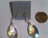 Clear Luster Crystal Drop Earrings