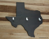 Coat Rack Key Hook Wall Hanging State Shape Texas Dark Espresso color