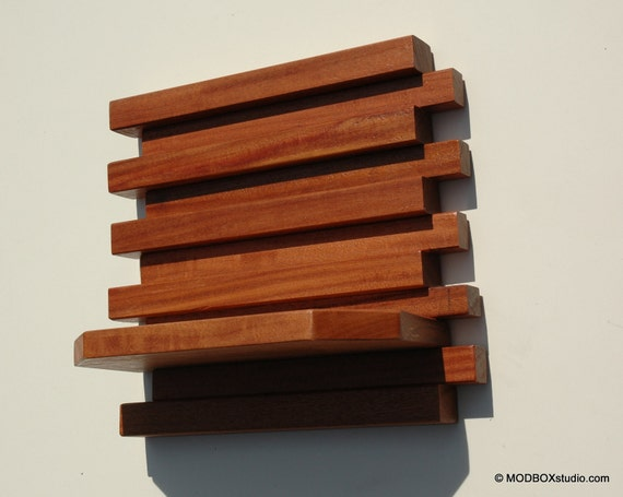 Wall Sconce Candle Holder Minimalist Modern Wood Wall Hanging Shelf Set of 2